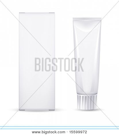 "vector ""no name"" tooth paste. There are VARIETY of white containers in my portfolio ;)"