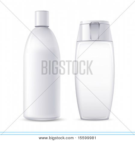 "vector white ""no name"" shampoo containers. There are VARIETY of white containers in my portfolio ;)"