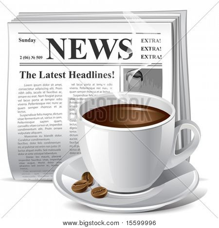 vector illustration of newspaper icon