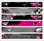 stock photo of emo  - Set of Emo banners.  To see similar, please VISIT MY GALLERY.