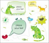 Set of vector talking animals. To see similar, please VISIT MY GALLERY.