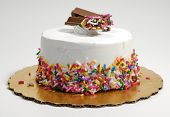 stock photo of cream cake  - Photo of an Ice Cream Cake  - JPG