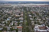 picture of katrina  - Aerial view of New Orleans about one year after Hurricane Katrina - JPG