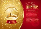 picture of christmas cards  - Christmas card with snow globe - JPG