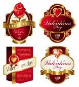 foto of heart valentines  - Golden valentines frames with heart - JPG