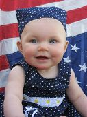 Photo of patriotic baby.