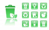 stock photo of reprocess  - 10 gloss  eco icons - JPG