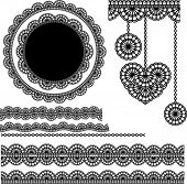 foto of eyeleteer  - vector lace elements 1 - JPG