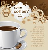 vector coffee background for your promotion. There are a number of SIMILAR backgrounds in my portfol