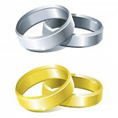 vector wedding rings (two colours)