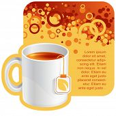 vector tea background for your promotion. There are a number of SIMILAR backgrounds in my portfolio