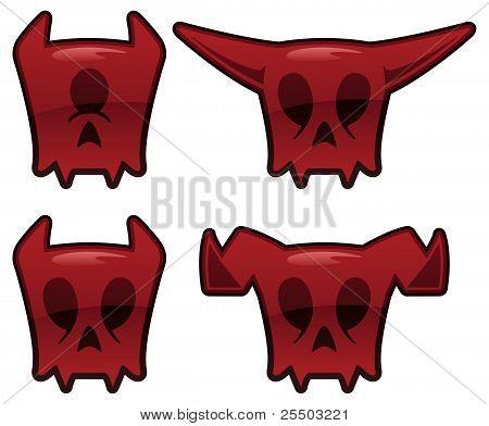 Demon-skulls