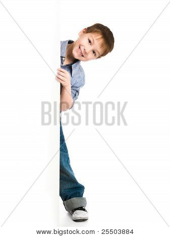 child behind a board