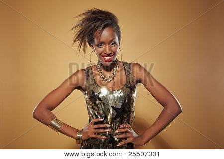 Young Happy African Woman