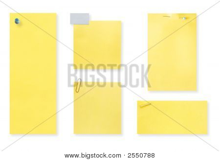 Blank Yellow Notes