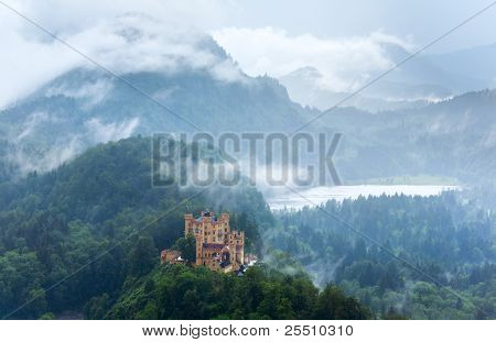 Neuschwanstein Castle In Bavaria (germany)