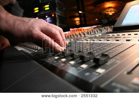Audio Technician At Work