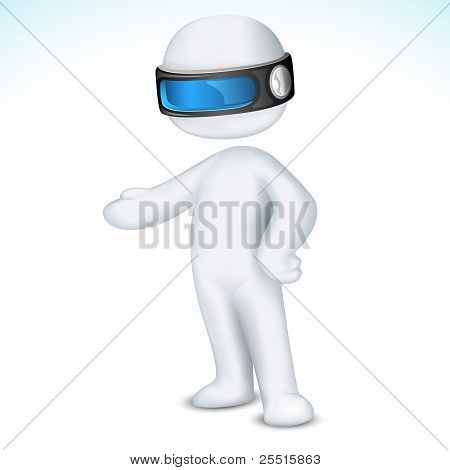 3d man in vector fully scalable