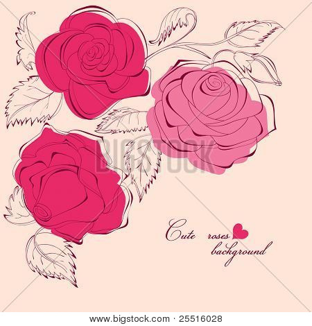 Cute roses background