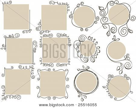 Doodle frames collection