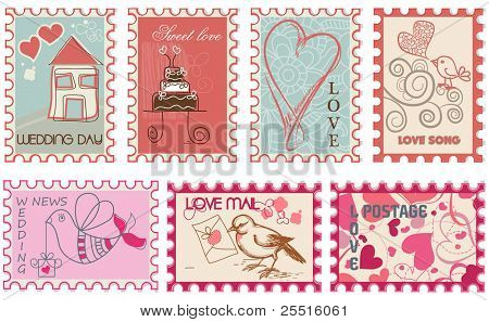 Love wedding stamps collection