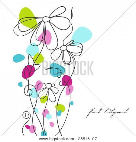 Cute floral background, mother day card