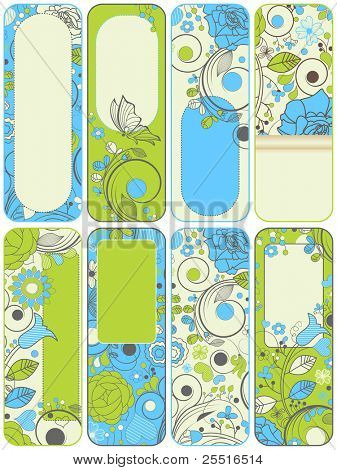 Vector floral banners set