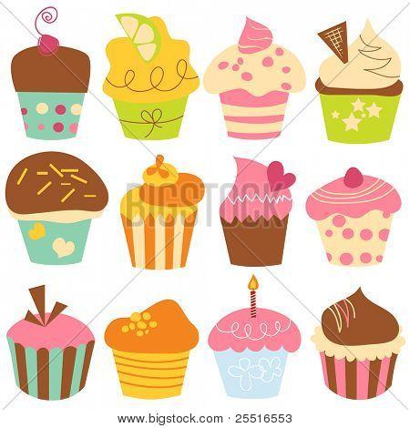 Cupcakes lindo conjunto