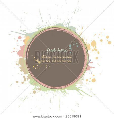 Grunge Kreis mit Tinte Spritzer