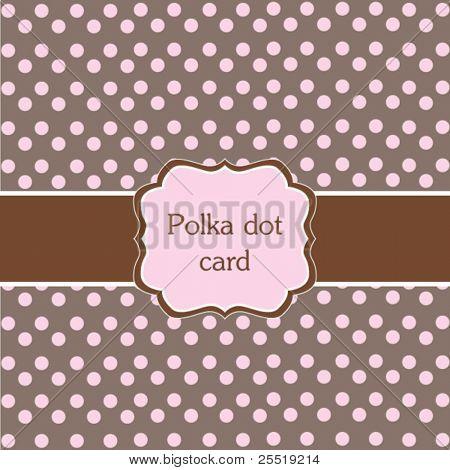 Polka Dot Design, Rosa Rahmen