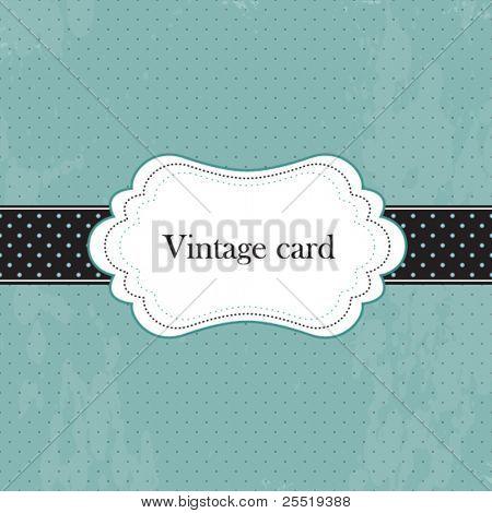 Vector vintage frame, greeting card