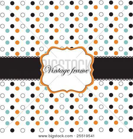 Polka Dot Design mit schwarze Elementen, Vektor-Bild