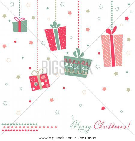 Christmas Gift Boxes card