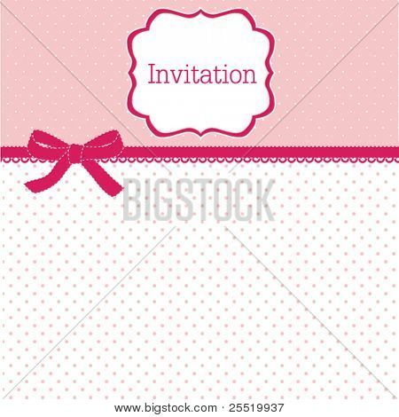 Polka dot design with bow