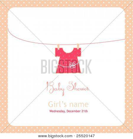 Baby shower card (girl)