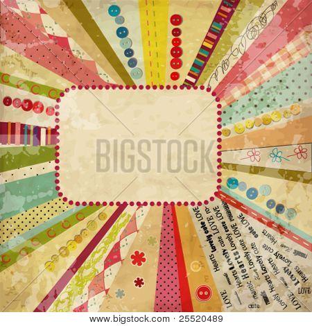 Schrott Vorlage von Vintage getragen gequält-Design mit leeren Platz für Ihren text