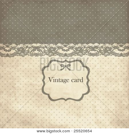Vintage card with lace