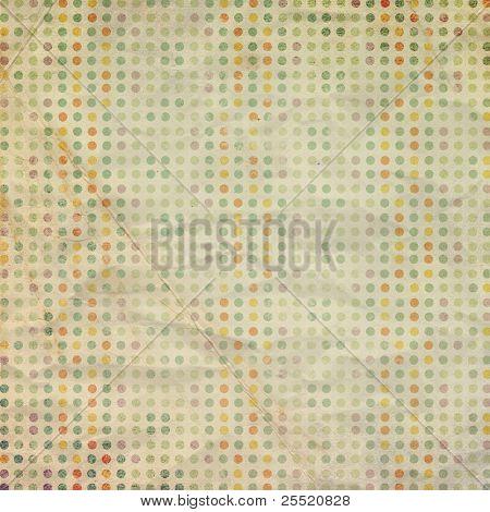Vintage scrap paper with circles