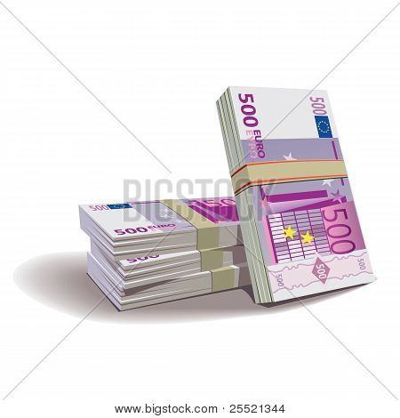 Euro banknotes vector illustration, financial theme