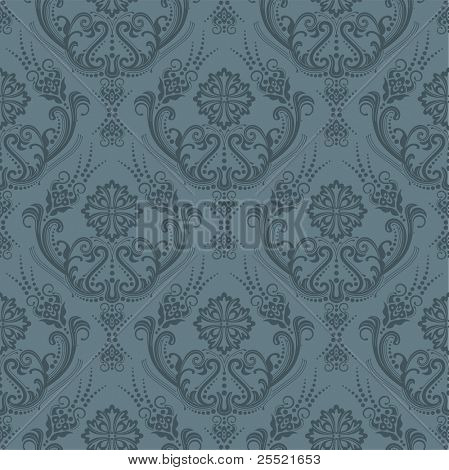 Luxus seamless grau floral wallpaper