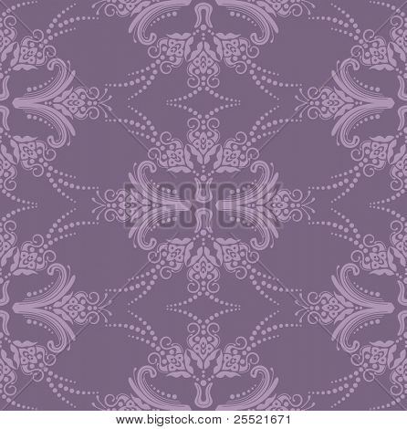 Luxury purple seamless floral wallpaper