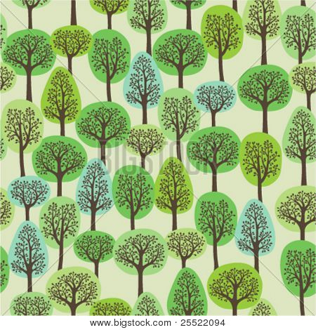 seamless pattern of a green forest