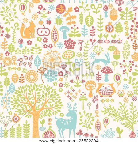 Fondo transparente con adorno de bosque colorido