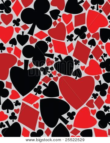Play-cards symbols vector background with clipping mask -  fully editable