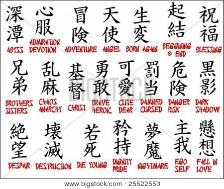 Japanese kanji - Chinese symbols part 2