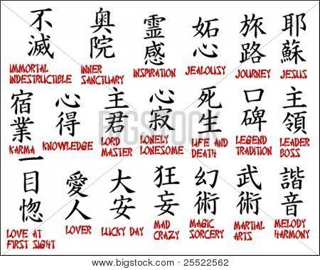 Japanese kanji - Chinese symbols part 4