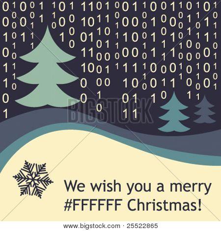 Funny Christmas greeting card