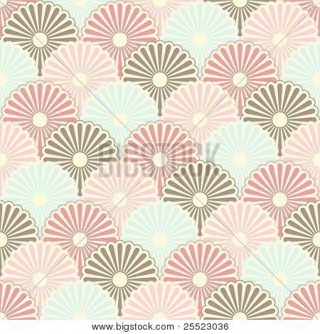 Seamless japanese vintage pattern (raster version)