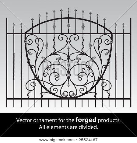 Ornamento de vector para productos forjados