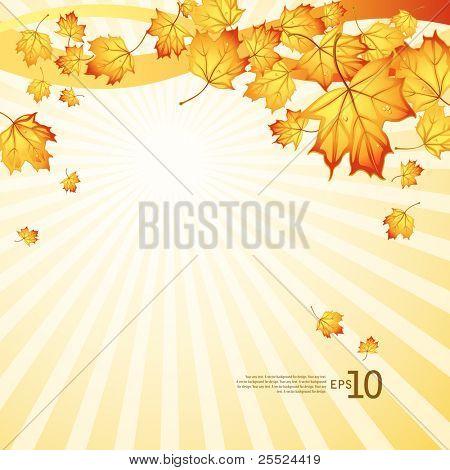 Vector Background auf ein Thema von Herbst